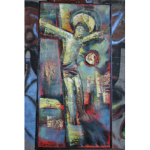 Abstract Painting Crucifix