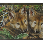 Painting Of Two Foxes