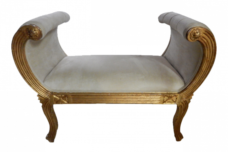 Antique Gilt Carved King 39 S Side Bench Gallery Fsa Gallery
