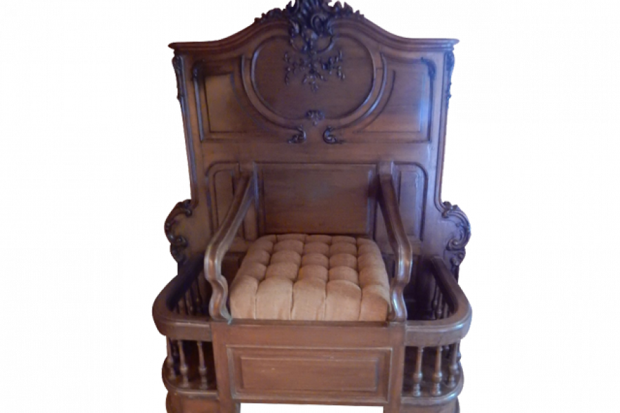 Antique Wood Throne